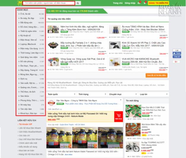 Tìm kiếm sản phẩm, dịch vụ tại MuaBanNhanh