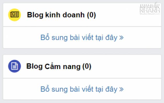 Truy cập tài khoản MuaBanNhanh.com> Quản lý tin tức về shop
