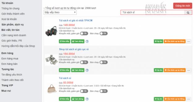 Tìm tin đăng bán sỉ